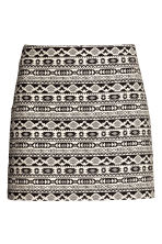 Jacquard-weave skirt - Black - Ladies | H&M CN 2