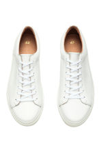 Leather trainers - White - Men | H&M 3