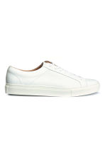 Leather trainers - White - Men | H&M 2