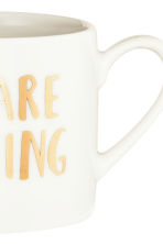 Lot de 2 mugs en porcelaine - Blanc/texte - Home All | H&M FR 3