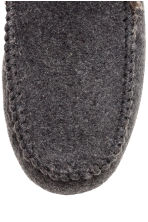 Felt slippers - Dark grey marl - Men | H&M CN 3