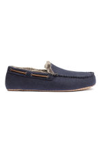 Felt slippers - Dark blue - Men | H&M CN 1