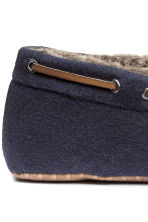Felt slippers - Dark blue - Men | H&M CN 4