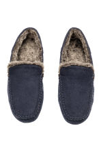 Felt slippers - Dark blue - Men | H&M CN 2