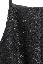 Sleeveless dress - Black/Glitter - Ladies | H&M CN 3