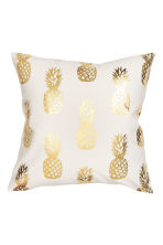 Printed cushion cover - White/Pineapple - Home All | H&M GB 2