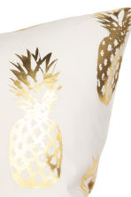 Printed cushion cover - White/Pineapple - Home All | H&M GB 3