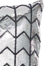 Sequined cushion cover - Grey/Silver - Home All | H&M GB 3