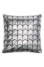 Sequined cushion cover - Grey/Silver - Home All | H&M GB 2