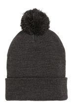 Knitted hat - Black marl - Men | H&M CN 2