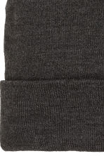 Knitted hat - Black marl - Men | H&M CN 4