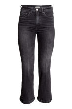 Jeans Cropped Flare High - Nearly black - SENHORA | H&M PT 2