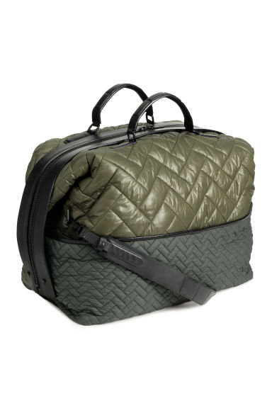 Quilted weekend bag - Dark green - Ladies | H&M GB