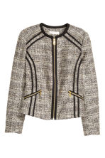 Fitted jacket - White marl - Ladies | H&M CN 2