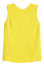 Sleeveless blouse - Yellow - Ladies | H&M CN 2