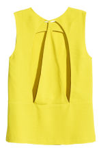 Sleeveless blouse - Yellow - Ladies | H&M CN 3