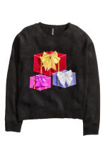 Knitted Christmas jumper - Black - Ladies | H&M GB 2