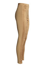 Imitation suede leggings - Beige - Ladies | H&M CN 3