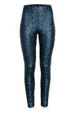 Sequined leggings - Black/Multicoloured - Ladies | H&M CN 2