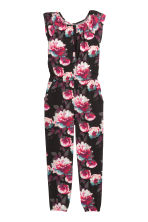 Patterned jumpsuit - Black/Patterned - Kids | H&M CN 2