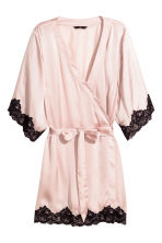 Satin kimono - Light pink - Ladies | H&M GB 2