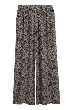 Pantaloni ampi - Nero/fantasia - DONNA | H&M IT 2