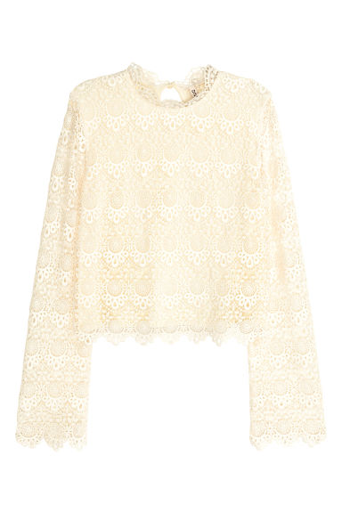 Lace top - Natural white - Ladies | H&M GB 1