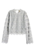 Lace top - Grey - Ladies | H&M GB 2
