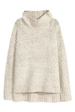 Knitted polo-neck jumper - Natural white - Ladies | H&M GB 2