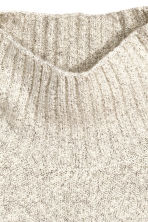 Knitted polo-neck jumper - Natural white - Ladies | H&M GB 3