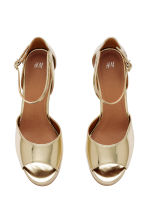 Platform sandals - Gold - Ladies | H&M CN 3