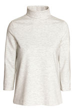 Polo-neck top - Light grey marl - Ladies | H&M CN 2