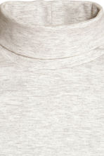Polo-neck top - Light grey marl - Ladies | H&M CN 3