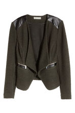 Textured jacket - Khaki green/Black - Ladies | H&M CN 1