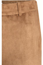 Trousers in imitation suede - Beige - Ladies | H&M CN 3