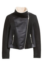Wool-blend flying jacket - Black - Ladies | H&M CN 3