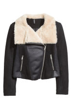 Wool-blend flying jacket - Black - Ladies | H&M CN 2