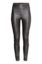 Imitation leather trousers - Black - Ladies | H&M GB 2