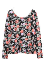 Peplum top - Black/Floral - Ladies | H&M CN 2
