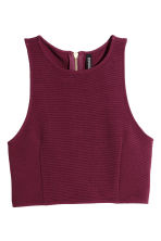 Crop top - Burgundy - Ladies | H&M CN 1