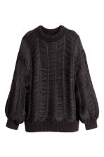 Fringed jumper - Black - Ladies | H&M GB 2