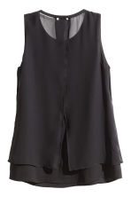 Chiffon blouse with beads - Black - Ladies | H&M CN 3