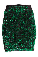 Sequined skirt - Green - Ladies | H&M GB 2