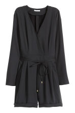 V-neck playsuit - Black - Ladies | H&M CN 2