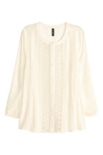 Lace blouse - Natural white - Ladies | H&M CN 2