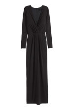 Long V-neck dress - Black - Ladies | H&M CN 2