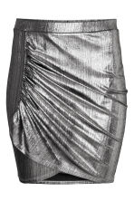 Draped skirt - Silver - Ladies | H&M CN 2