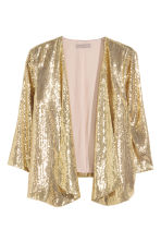 H&M+ Glittery sequined jacket - Gold - Ladies | H&M CN 2