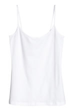Basic top - White - Ladies | H&M CN 2