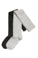 2-pack over-the-knee socks - Grey/Black - Ladies | H&M CN 2